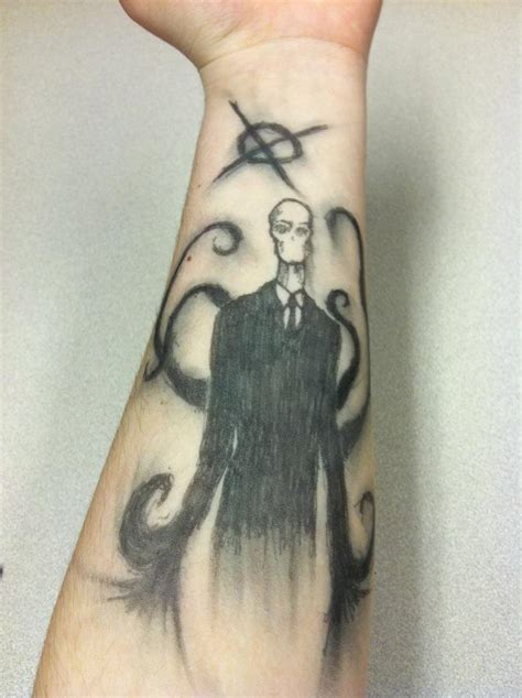 pen tattoos 1 by thetruexivmember on deviantart slenderman pen ink tattoo by zombinator24 on deviantart