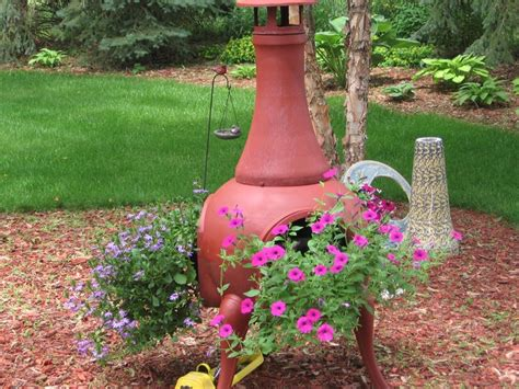 chiminea planter 15 best chiminea garden planter images on