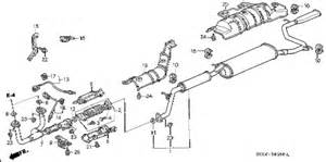 2005 Honda Odyssey Exhaust System Diagram Honda Store 2000 Odyssey Exhaust Pipe Parts