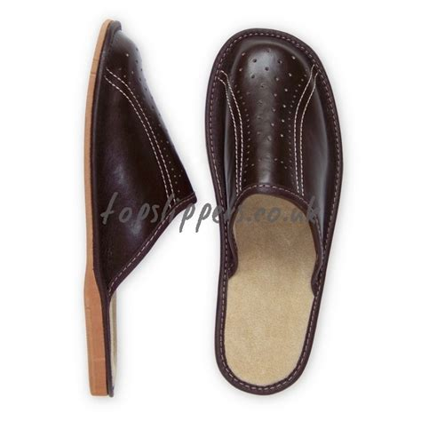 leather house slippers buy brown leather house slippers mules for men model no