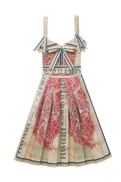 Folded Paper Dress - sewing as origami map dresses the curious kiwi