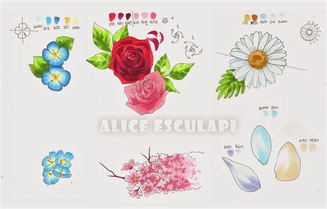 come disegnare i fiori copic italia tutorial fiori seconda parte