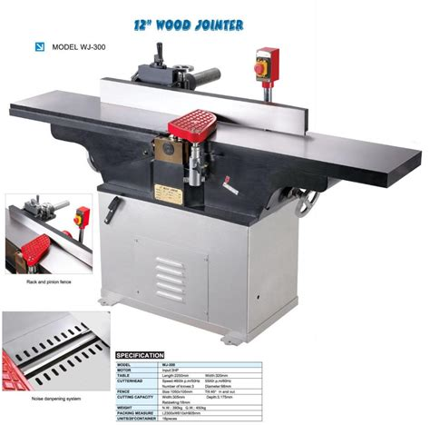 industrial woodworking tools 12 quot wood jointer wj 300 wj 300a shoot china