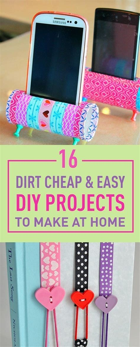 Cheap And Easy Diys Craft Ideas Diy Craft Projects
