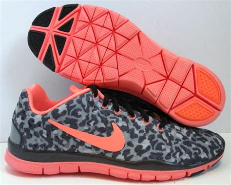 new womens nike free 5 0 v4 leopard cheetah print shoes