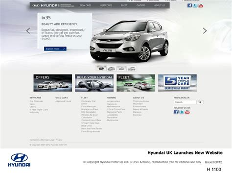 launch of the new generation hyundai website