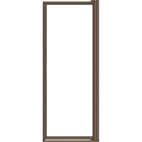 rubbed bronze shower door frame basco deluxe 37 in x 67 in framed pivot shower door in