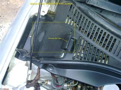 Suzuki Car Vin Decoder Team Bhp Finding The Vin Manufacturing Date Year On