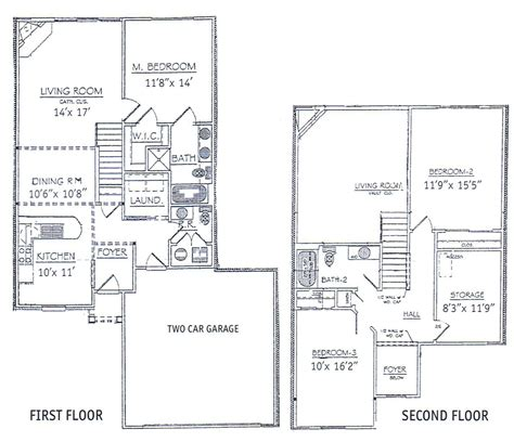 3 bedrooms floor plans 2 story bdrm basement the two twostory plansnarrow jpg 1420 215 869 narrow house plans