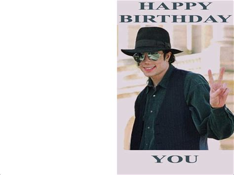 Printable Michael Jackson Birthday Cards | michael jackson birthday cards