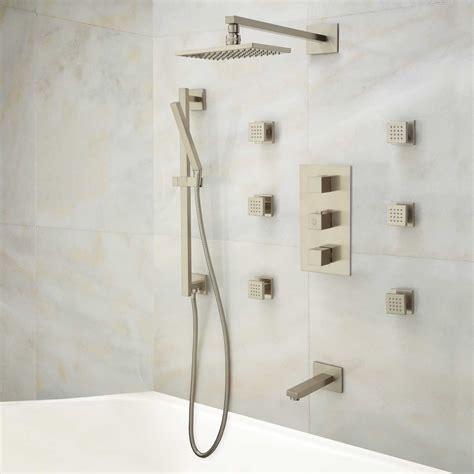 Jet Showet Set 2605 signature hardware onassis thermostatic tub and shower system 6 sprays ebay