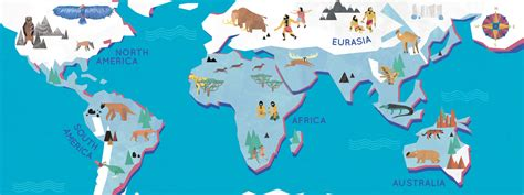 ice age map   world  jack tite  draw travel