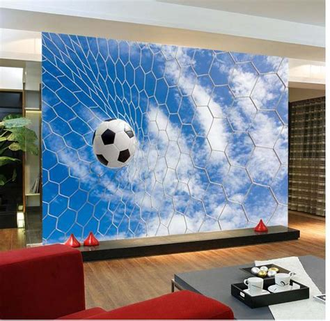 sports wall murals 3d wall sticker mural sports football stickers 3d wallpaper hd wallpapers fashion personalized