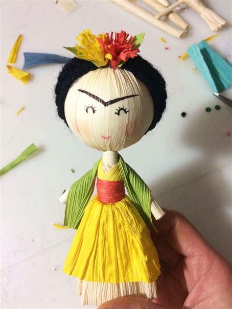 corn husk dolls nz frida kahlo hoja de tamal frida kahlo crafts