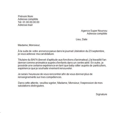 Lettre De Motivation Visa Travail cover letter exle exemple de lettre de motivation travail