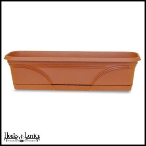 Plastic Planter Box Liners by 30in Medallion Pvc Window Box Or Liner
