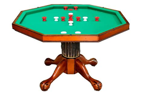3 in 1 table octagon 54 quot w bumper pool 4 chairs