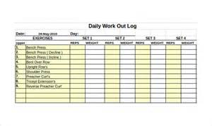excel work log template free printable workout log sheets eoua