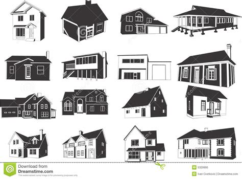 Row House Plans - houses icons stock vector image of architecture isolated 5329995