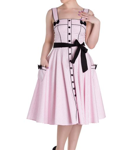 M Co Polka Dress T3010 hell bunny rockabilly pinup martie 50s dress polka dot pink all sizes ebay