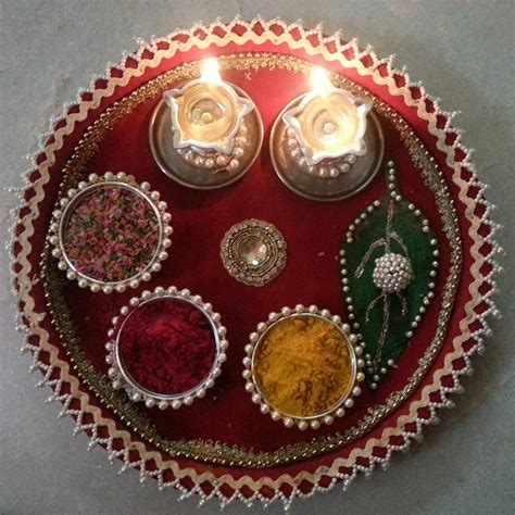 Handmade Diwali Decorations - a beautiful handmade pooja thali fancygabe