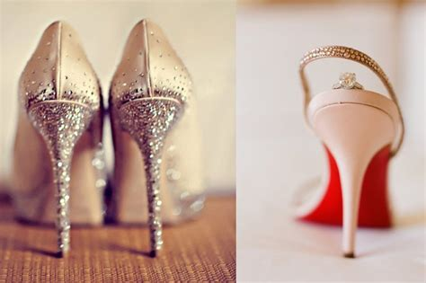 Romantic Wedding Shoes Low Heels sparkly   OneWed.com