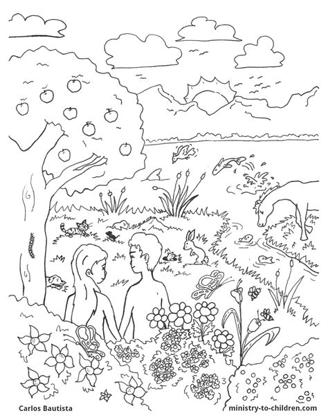 creation coloring pages pdf creation bible coloring page free download