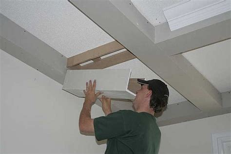 Installing A Sliding Barn Door Beamed Ceiling Shown At Different Stages Of