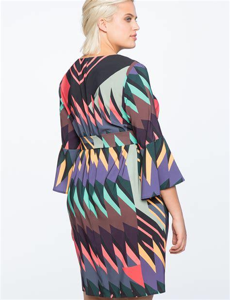 Printed Sleeve Dress printed flare sleeve dress eloquii