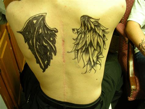 angel and demon tattoo designs pics images for tatouage