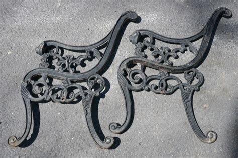 wrought iron bench ends park slope brooklyn black wrought iron lion head bench ends pictures