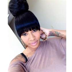 black hairstyles bun with bangs 1000 images about bang bun on pinterest brazilian