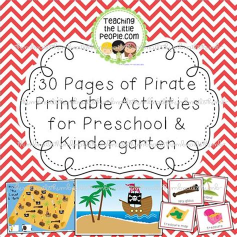 for preschool pirate printables for preschool kindergarten teaching