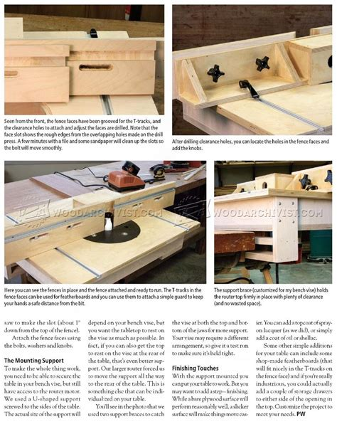 bench routers bench mounted router table plans woodarchivist