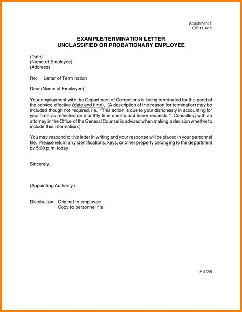 letter of termination of employment template 13 sle termination letter academic resume template