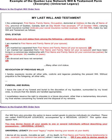sle last will and testament form last will and testament form for free