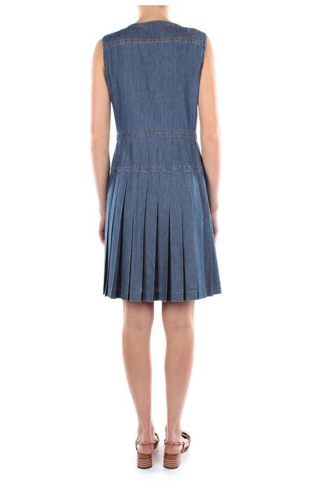 Kleider Taufe Damen by Kleider Prada Damen Baumwolle Blau Gea074bleu Ebay