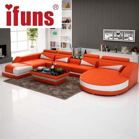 leather sofa design living room ifuns modern luxury u shaped design sofa set genuine