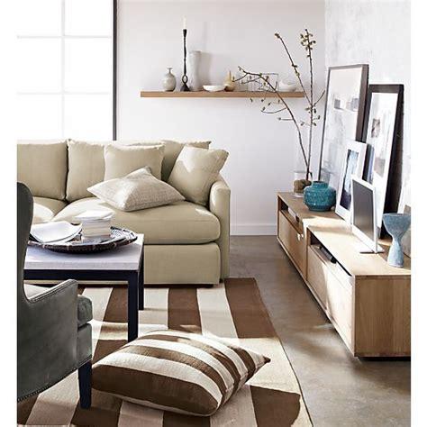 crate and barrel lounge ii 3 seat 105 quot grande sofa crate and barrel