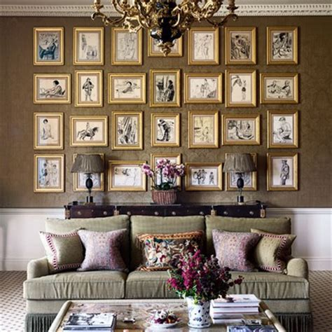 home design hanging pictures wall ideas interiors houseandgarden co uk