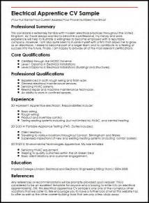 Curriculum Vitae United Kingdom by Electrical Apprentice Cv Sample Myperfectcv