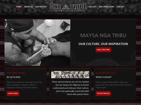 tattoo design website one tribe tattoos ikandee web design