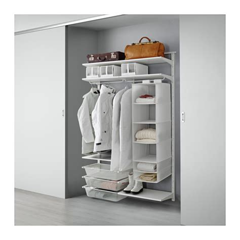 open clothes storage system diy algot wall upright shelves rod ikea