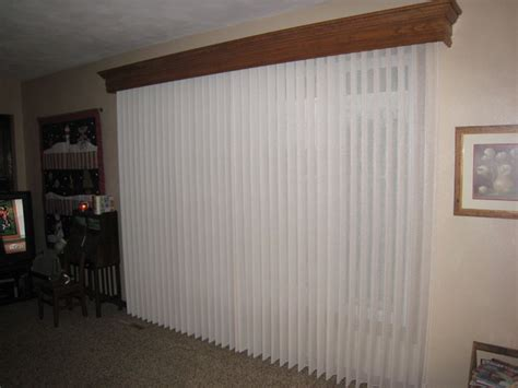 Blind Cornice Wood Cornice And Fabric Wrapped Vertical Blinds