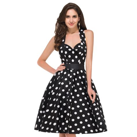 Summer Retro Dress 42553 aliexpress buy 2017 hepburn summer style 50s vintage dresses big swing retro