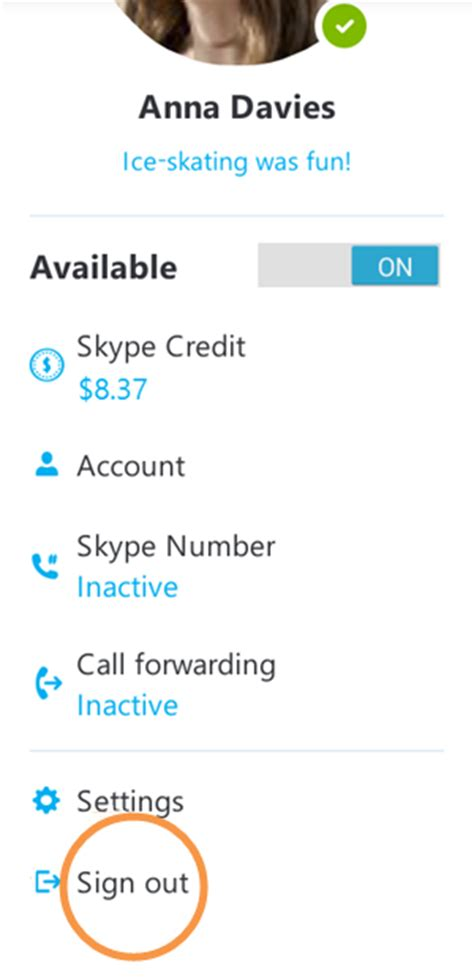 sign out of on android how do i sign out of skype for android skype support