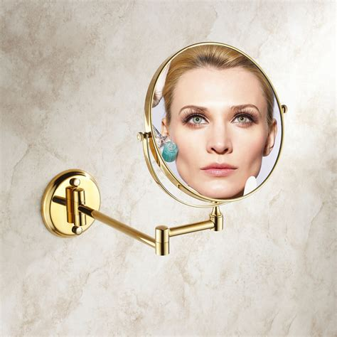 gold 8 quot magnifying mirror for bath makeup wall mounted online get cheap gold makeup mirror aliexpress com