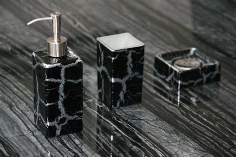 black and silver bathroom accessories kalahari set black silver modern bathroom set