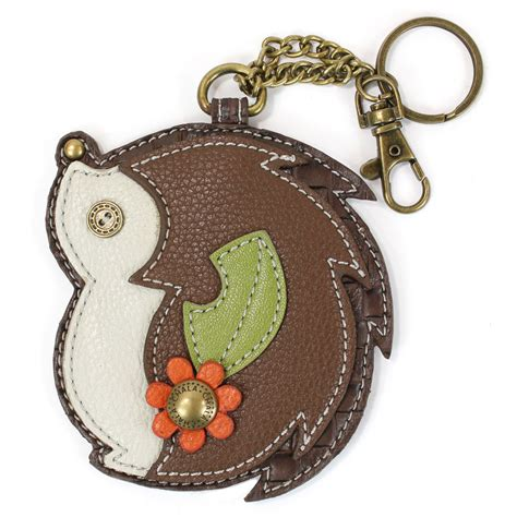 Chala Coin Purse Key Fob chala hedge hog whimsical inspired key chain coin purse