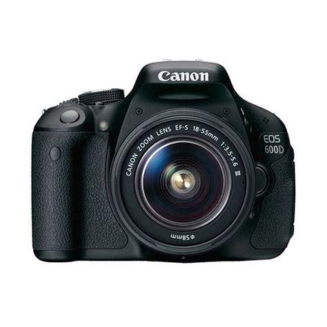 Kamera Dslr Canon 600d jual canon eos 600d kit 18 55mm iii hitam kamera dslr non is 18 mp harga kualitas